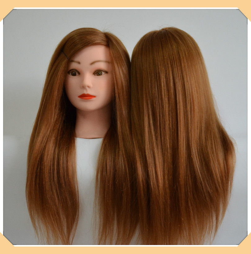 22quot; golden hair mannequin head professional styling head