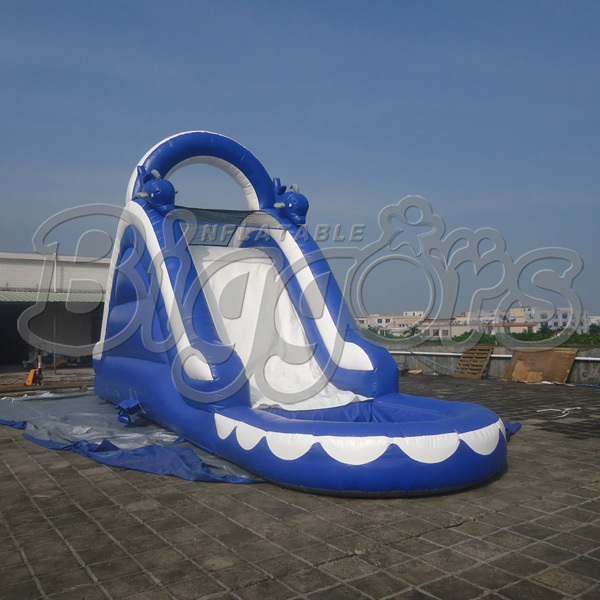 FREE SHIPPING BY SEA Popular Commercial Inflatable Water Slide Inflatable Jumping Slide With Pool(China (Mainland))