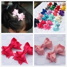 2pcs/lot newest kids children hair clip bobby pins barrette hairpins for girls hair accessories ribbon bows ornaments hairgrips(China (Mainland))