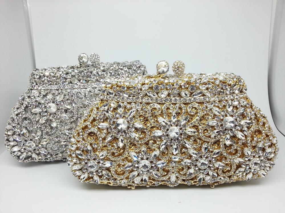 GIFT BOX Packing National Lady Purses Minaudiere Crystal Clutch Wedding Party Clutches Diamonds Women Bag Handbags Purse Bolsas(China (Mainland))