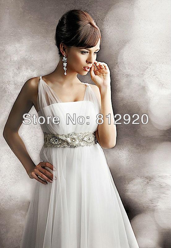 Terence Bridal Store TSD102 Spaghetti Straps Empire Waist Tea Length Beach Casual Short Wedding Dresses Sexy(China (Mainland))