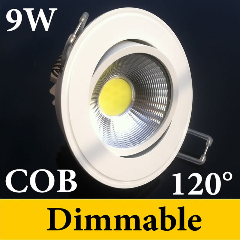 20% Discount Newest Cob Downlight 9W 650 Lumens 120 Beam Angle Nature/Warm/Cool White CRI>85 110-240V Recessed Light CE ROHS UL - Eternal Online LED Store store