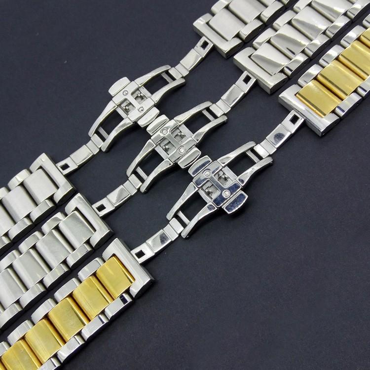 Серебро с золотом Металла Нержавеющей Стали Ремешок Для Часов Ремешок для L-g G часы R smartwatch мужчины С Высоким Качеством Нового развертывания 22 мм