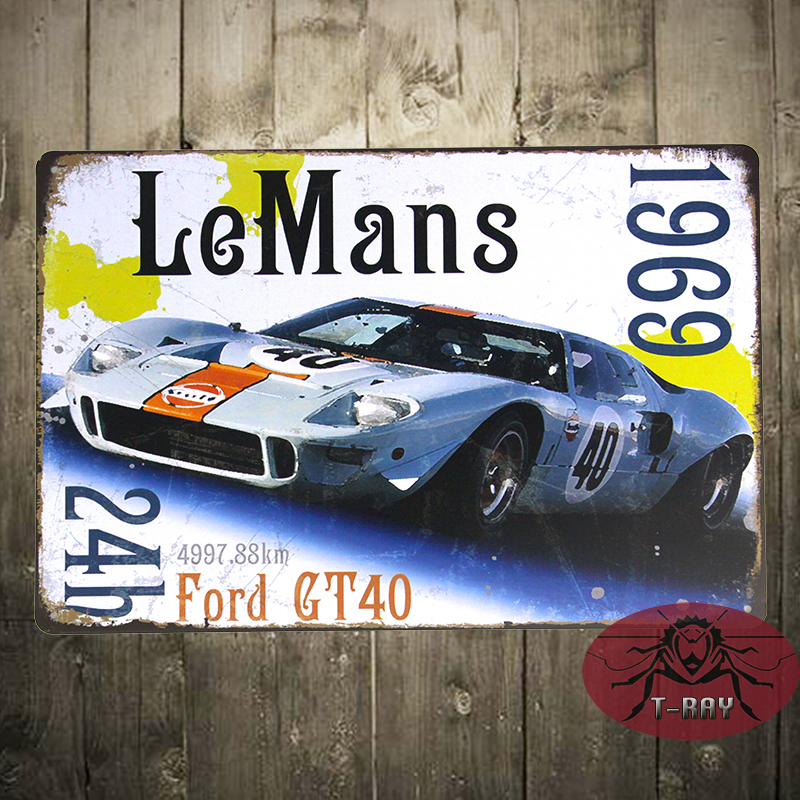 Endurance Sports Car Race 24 Hours of Le Mans Tin Sign Metal Wall Decor Display B-118(China (Mainland))