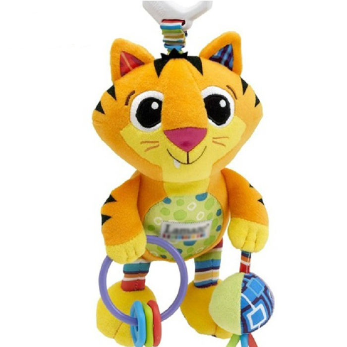 Tiger Bed Bell/Bed lathe hanging toys, with teether/rattle Baby Plush Toy, learn & education Baby Toys(China (Mainland))