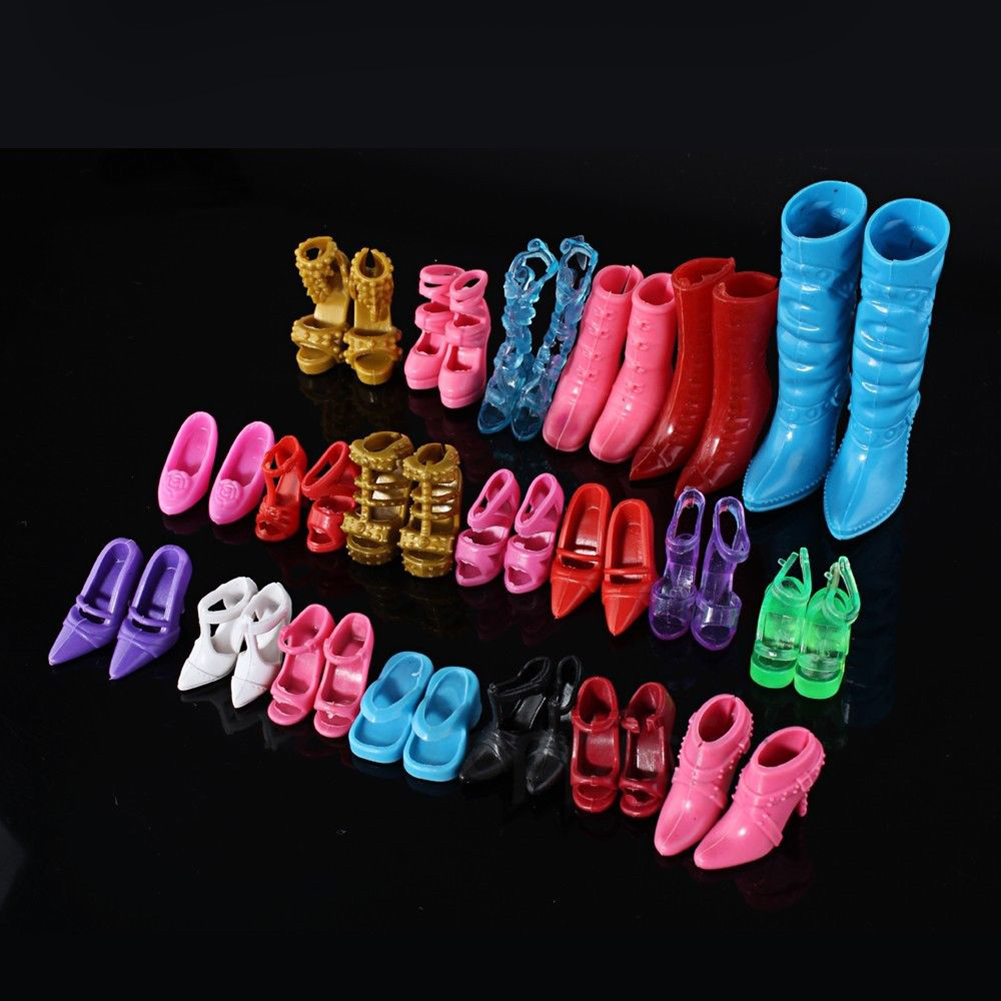 New Fashion Mix 24pcs/12Pairs Shoes Boots for Decor Doll Toy Girls Play House Party Xmas Gift Random(China (Mainland))