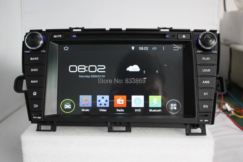 """1024*600 HD 2 din 8"""" Android 4.4 Car DVD GPS for Toyota Prius 2009-2013 With Car PC 3G/WIFI Bluetooth IPOD TV Radio /RDS AUX IN(China (Mainland))"""