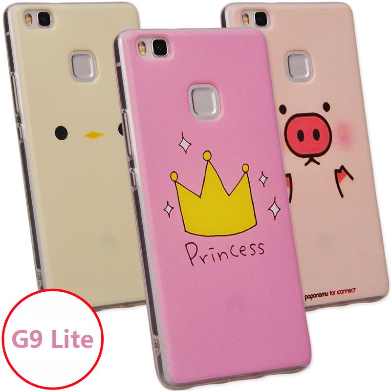 Women Cute cartoon painting soft silicon case Huawei P9 Lite G9 5.2 inch  -  ShenZhen MRB store store