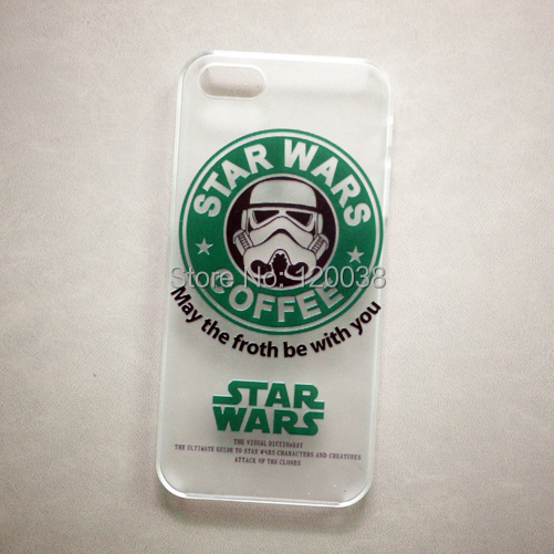 Transparent STAR WARS COFFEE Stormtrooper cell phone cases covers FOR apple iphone 6 iphone6 Plus 5 5s - KAKAW Union Trading Co.,Ltd store