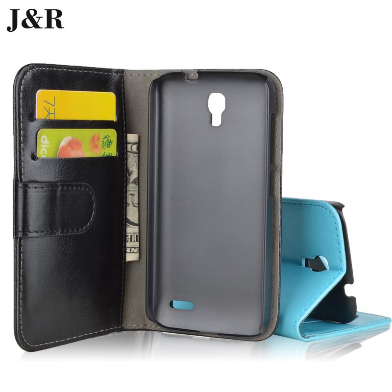 J&R Brand Wallet Stand Leather Case Alcatel One Touch Pop 2 4.5 5042 5042X 5042D 5042A 5042W 5042E Cover ID Card Holder - Kemity Co., LTD store
