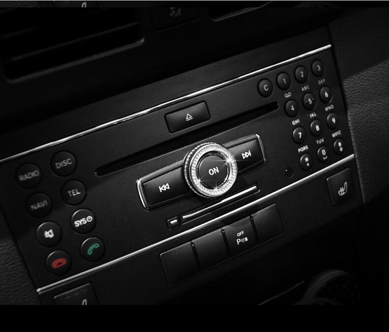 Silver/Gold Speaker Knob Cover Trim For Mercedes-Benz C Class W204 E Class W212 GLK 2012 Car Accessories(China (Mainland))