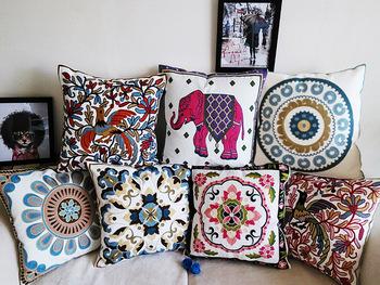 45 X 45 см вышивка 100% хлопок подушка подушки крышки, творческий украшение для дома диван, автомобиль подушки подушки, подарки для нового дома