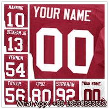 Men's #10 Eli #13 Odell #54 Olivier #56 Lawrence #80 Victor #92 Michael Football Jersey 100% Stitched with Customized(China (Mainland))