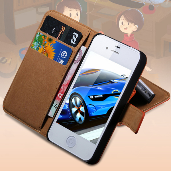 5S/SE Case Retro Korean Genuine Leather Magnetic Flip iPhone 5 5S SE 5G Wallet Card Slot Cover Bags Shell - Three-A Group Co.,Ltd store
