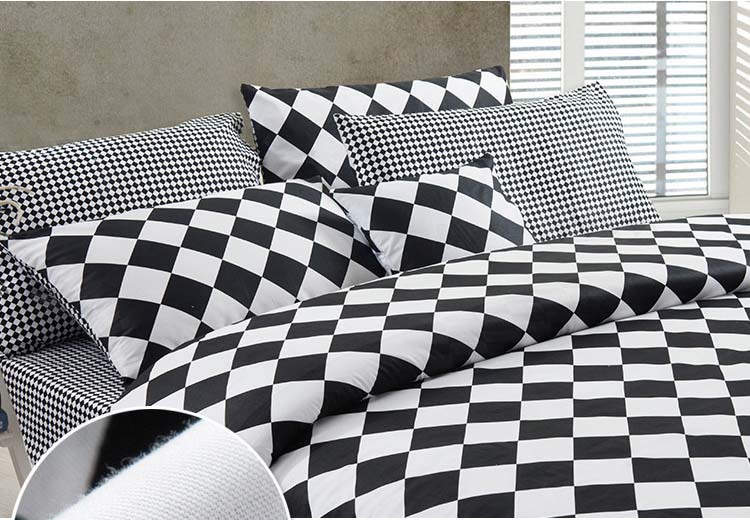 Modern city Black and White geometric hotel 100% cotton 4pcs comforter/duvet Cover bedding set Queen/King/B2294 Air shipping(China (Mainland))