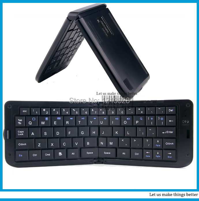 Mini Bluetooth keyboard Wireless bluetooth folding keyboard with a backstand for Apple Tablet 2/3/4, Android Samsung S5 HTC(China (Mainland))