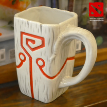 100% official DOTA 2 TI4 Accessory Juggernaut Jugg Mask pendant Ceramic Mug Coffee Cup for collection(China (Mainland))