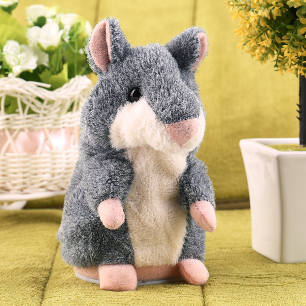 Lovely Free Shipping Talking Hamster Plush Toy Hot Cute Speak Talking Sound Record Hamster Talking Toys for Children(China (Mainland))