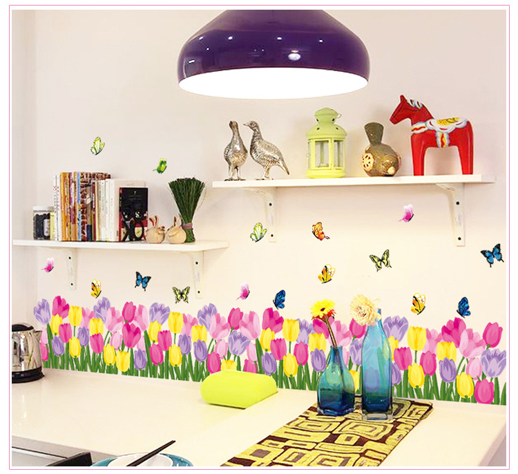 tulip border wall stickers - photo #7
