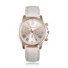 W6 NEW Geneva Watch women Fashion Quartz Watches Leather Sports Women watch Casual Dress Wristwatches relogios feminino