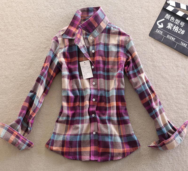 13 color red plaid flannel shirts cell green checkered for Types of flannel shirts