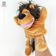 BOLAFYNIA Infant Children Hand Puppet kids baby plush Stuffed Toy animal series with foot Puppets toys Christmas birthday gift(China)