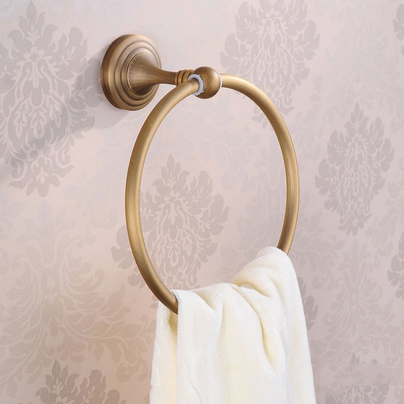 Copper Antique Towel Ring Fashion Towel Hanging Towel Rack Bathroom Hardware Accessories