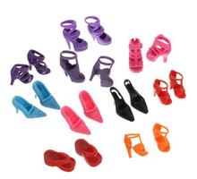 Caliente venta 1 / 6 muñecas colores mezclados estilos zapatos de paquetes zapatos para 30 cm chica muñecas sandalias de tacón alto zapatillas zapatos bolsa 1000 par/lote