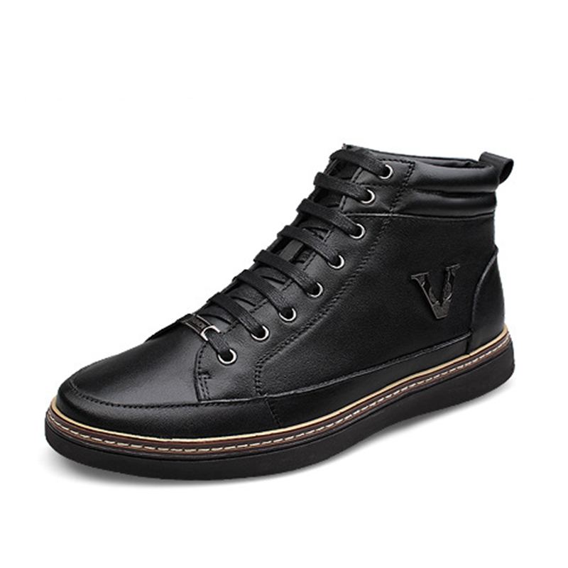 Classical Design Top Quality Genuine Leather Handmade Winter Boots Men,2015 Ankle Boots For Men,Fashion Winter Boots Men(China (Mainland))