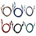 Nylon Braided 2 in 1 Micro Usb Cable For Android Charger Converter USB Phone Cable For