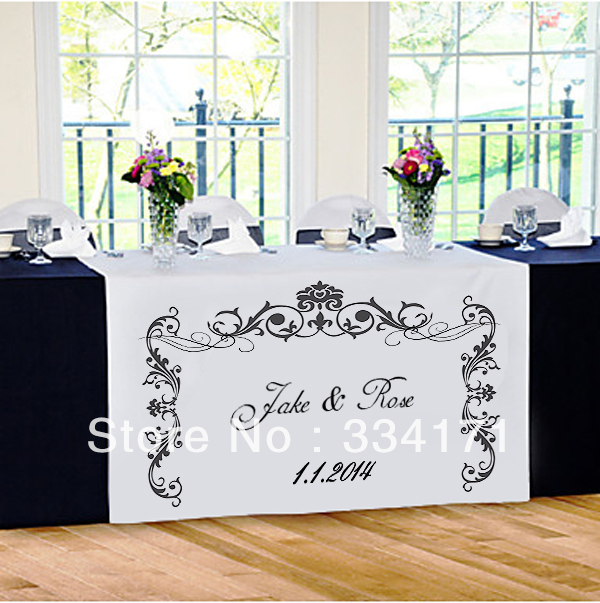 damask arrival wedding  table   Personalized wedding runner runner table new personalized style reception
