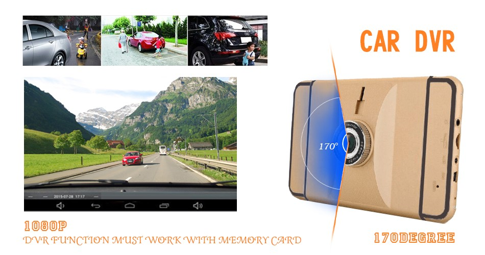 New 7 inch Android GPS Navigation 1080P Car Dvr Camera Recorder 512Mb 8Gb Truck vehicle Gps Free Map Quad-core Tablet PC Dashcam