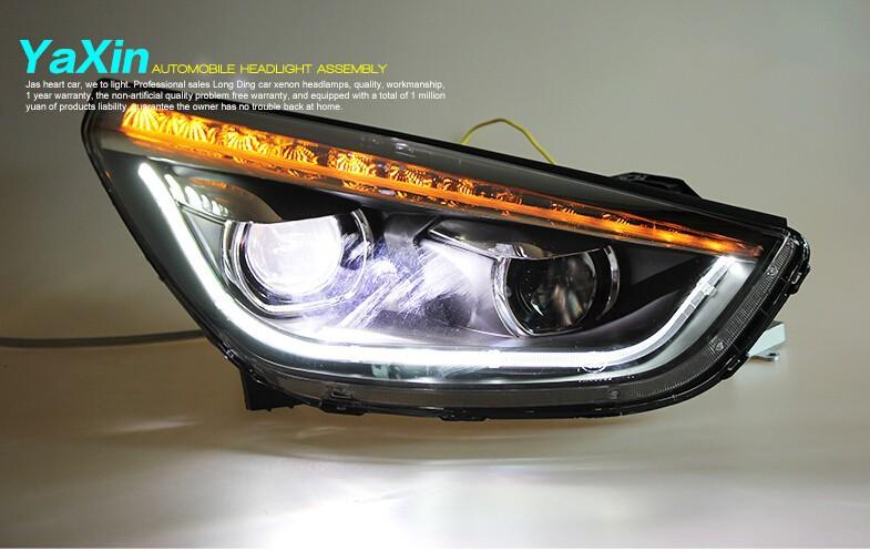 Auto Clud 2010-2013 For Hyundai ix35 headlights LED DRL light car styling H7 xenon HID kit head lamps Q5 bi xenon lens parking
