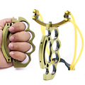 Titanium Steel Folding Slingshot Outdoor Hunting Self Defense Hunting Catapult Camping Survival Tool High Quality Cost
