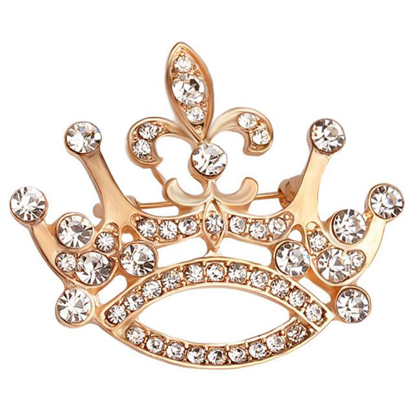 1Piece Free Shipping 2016 New Full Crystal Crown Brooch America and Europe pop Cats Pin Brooches Animal Jewelry Women Gift(China (Mainland))