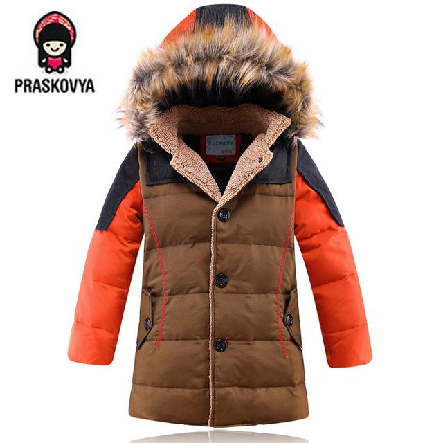 2015 детская одежда мальчиков пуховик для мальчиков куртка пальто куртка теплая подлинной толстые дети мальчики зимнее пальто куртки Утка 100%