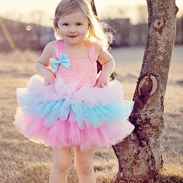 2-13age Sweet Cotton Candy Tutu Dress, First Birthday Tutu, Pageant Costume, Party Dress,Dance Costume,Photography Props<br><br>Aliexpress