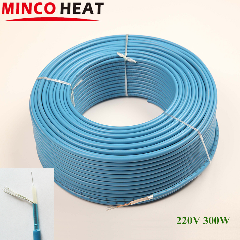 300W Home electric warm floor heating cable 220V energy saving heat cables home application infrared heating wire heated floor(China (Mainland))