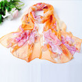 2016 New Womens Summer Fashion Scarf Women Thin Long Chiffon Silk Shawl Flower Shawls Scarves chales