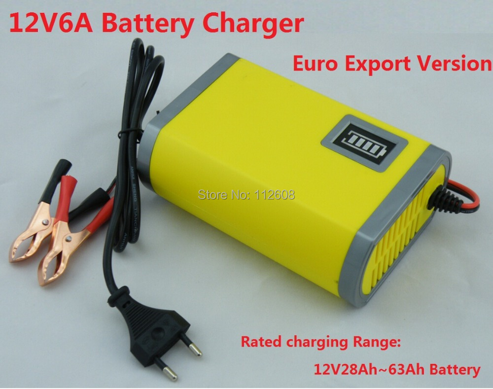 12V Car Battery Charger 12V lead acid battery charger 12V Motorcycle Battery Charger12V6A Car Charger +One free Power adapter(China (Mainland))