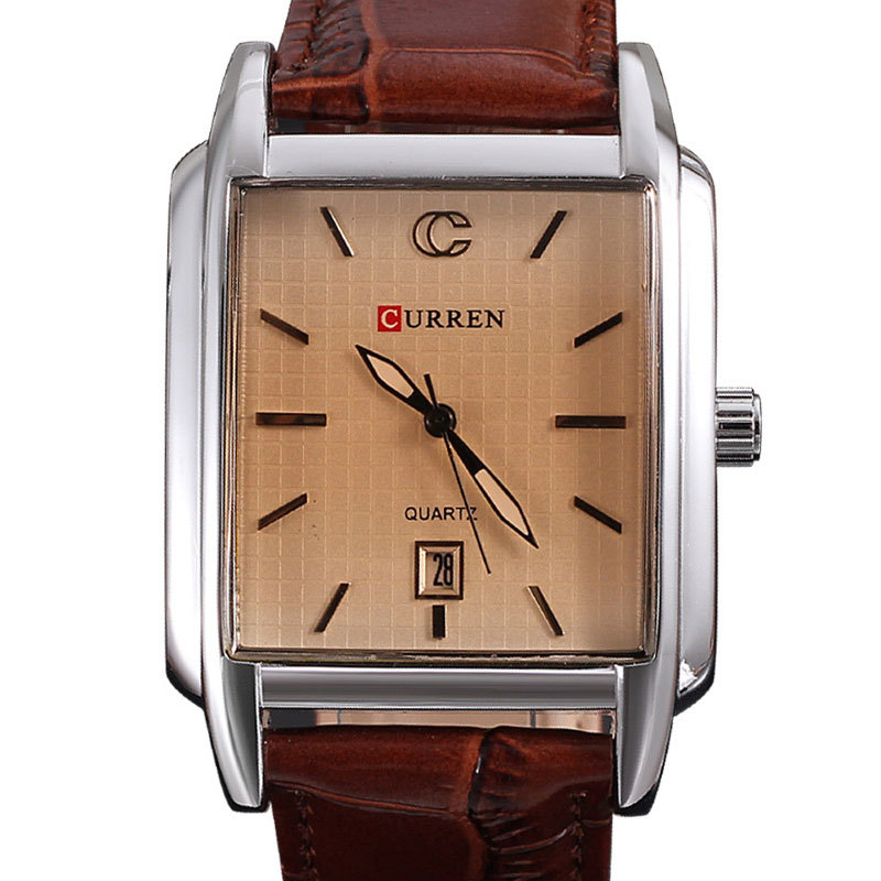 Curren watches men quartz Japan movement 3ATM business military watch genuine leather strap relogio calendar hours clock - Fashion- goods store