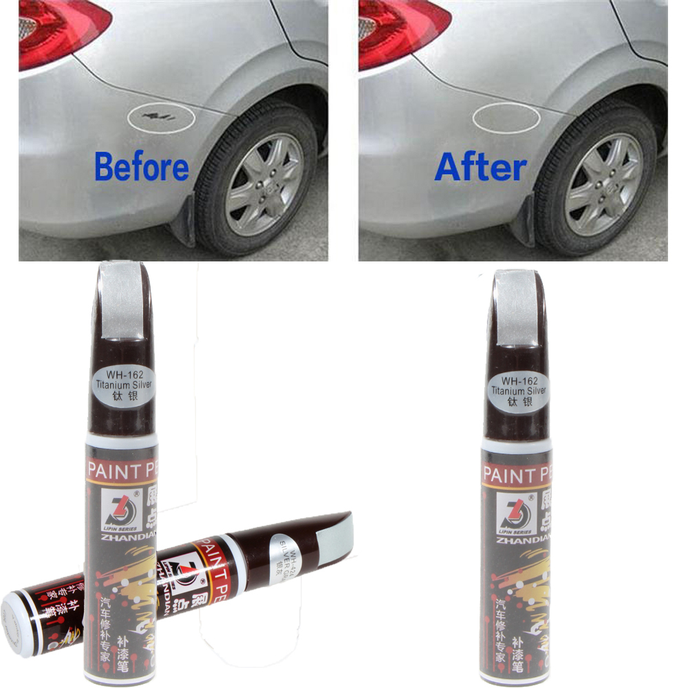New Hot Sale 12ml Titanium Silver Professional Car Paint Repair Pens Waterproof Clear Car Scratch Remover Painting Remover Pen(China (Mainland))