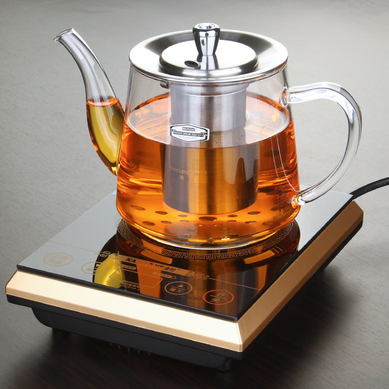 free shipping Induction cooker special pot boil tea dedicated cooker glass pot stainless steel liner kettle flower tea pot(China (Mainland))