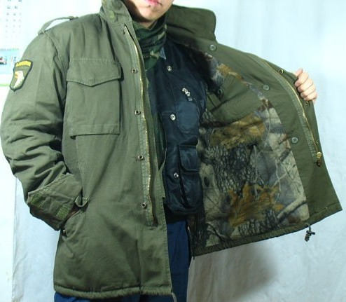 M65 army green camouflage jacket Windproof Thermal,Liner removable,high quality(China (Mainland))