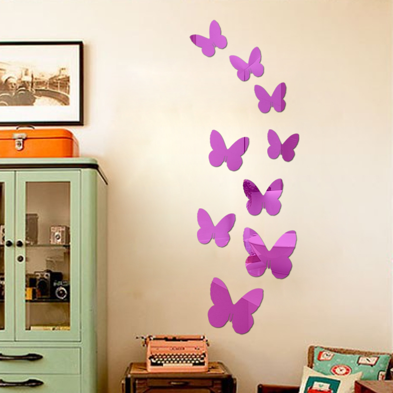 Buy Flying Butterfly Free Shipping Children 39 S Room Mirror Wall Sticker Home
