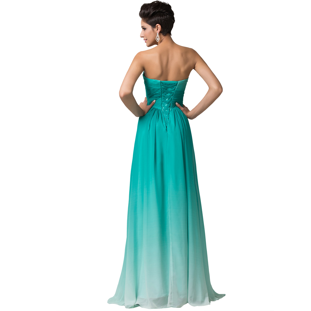 Awesome Long Blue Green Yellow Orange Multi Colored Evening Prom Dresses