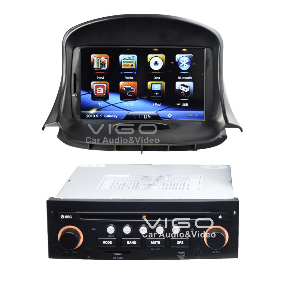 car stereo de navigation gps pour peugeot 206 1998 2009 bluetooth autoradio auto radio sat nav. Black Bedroom Furniture Sets. Home Design Ideas