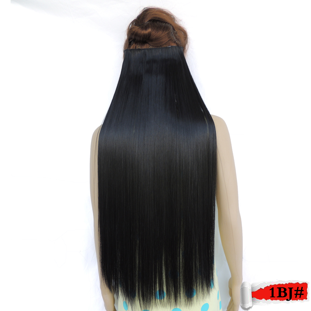super long clip in hair extension extensions synthetic haar extensiones expression girl straight secret aliexpress 1bj#<br><br>Aliexpress