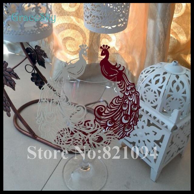 60pcs hot sale free shpping phoenix shape wine glass place for Phoenix glass decorating co