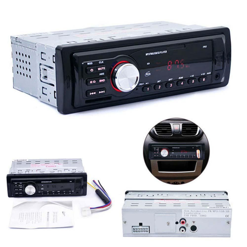 Car In-Dash Stereo Audio FM Aux Input Receiver SD USB MP3 WMA Radio Players